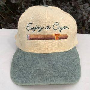 "Vintage ""Enjoy a Cigar""  Strapback Dad Hat/Cap"